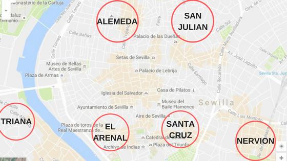 mapa Sewilli